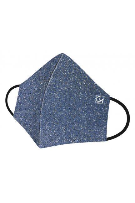 Maska profilowana brokatowa niebieska