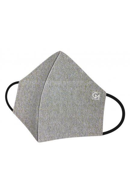 Maska profilowana brokatowa szara