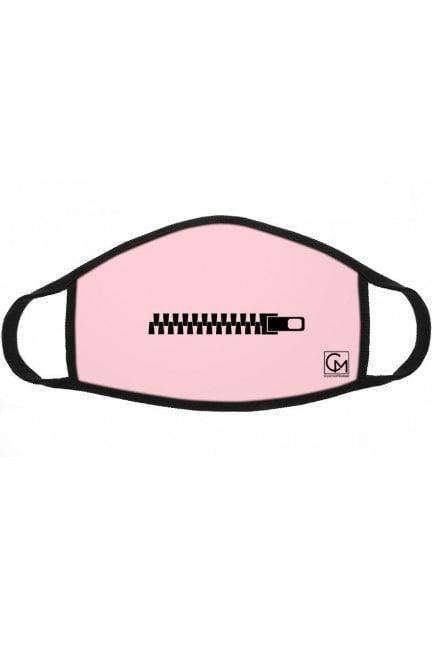 Maska sportowa bawełna nadruk różowa