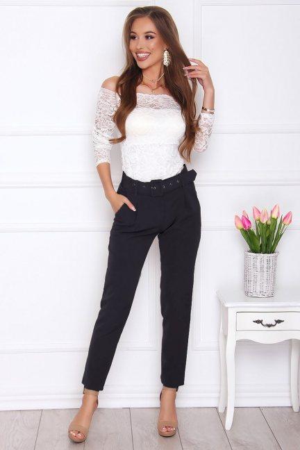 Spodnie wizytowe cygaretki czarne