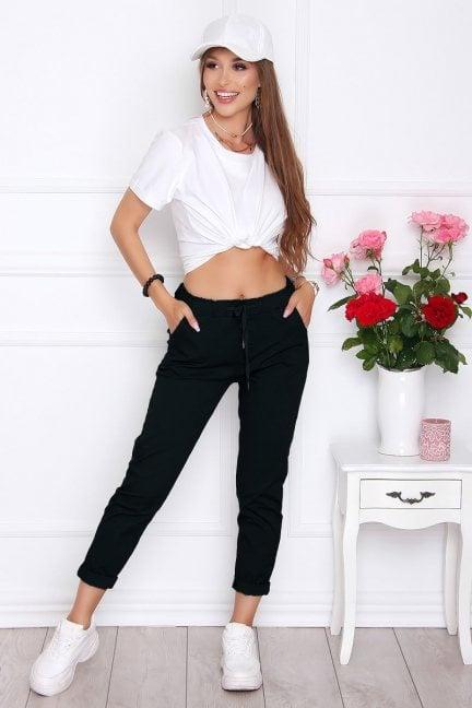 Spodnie damskie wizytowe czarne