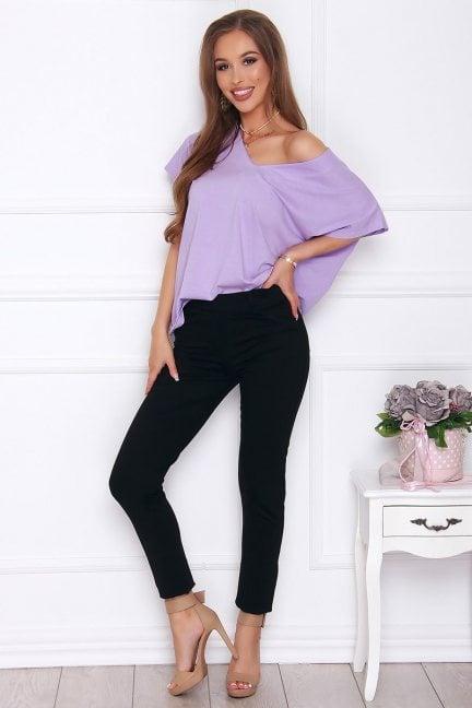 Spodnie damskie modne cekiny czarne