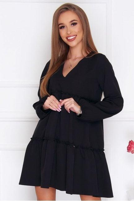 Sukienka damska trapezowa czarna
