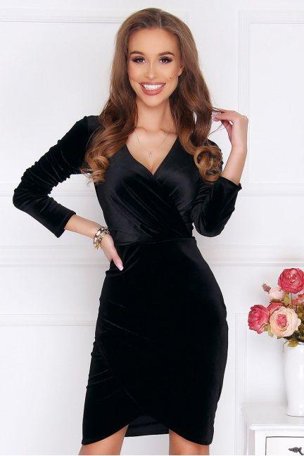 Sukienka ołówkowa mini welur czarna