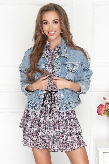 Kurtka damska bomberka jeansowa