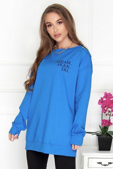 Bluza bawełniana damska nadruk chaber
