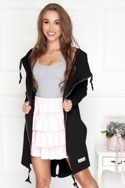 Bluza bawełniana długa czarna