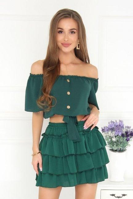 Komplet wizytowy damski modny zielony
