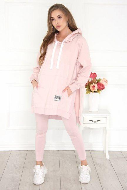 Bluza sportowa oversize damska różowa