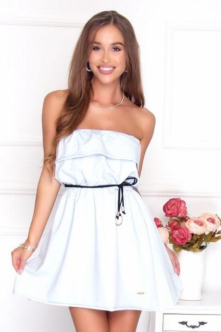 Sukienka hiszpanka mini błękitna