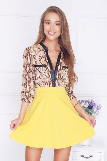 Spódnica rozkloszowana żółta
