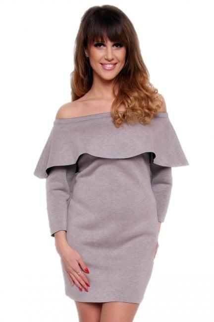 Sukienka hiszpanka ołówkowa CM410 szara