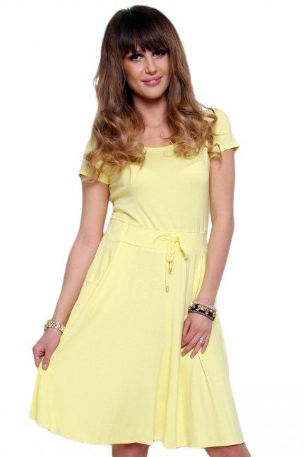 Sukienka wiązana krótki rękaw
