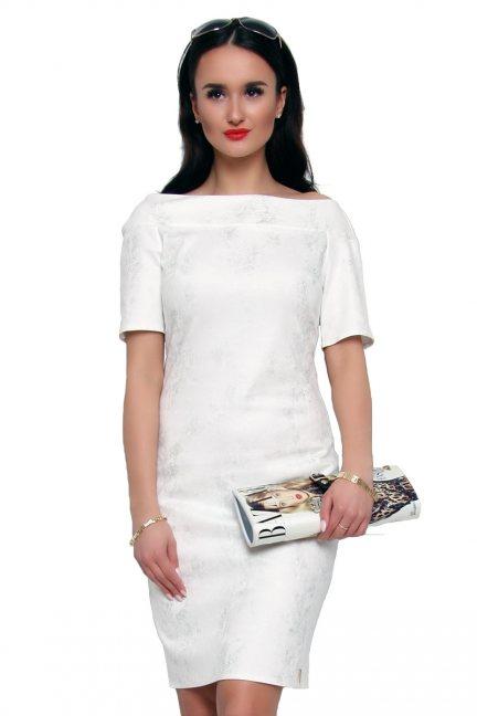 Sukienka ołówkowa midi CMK166 biała