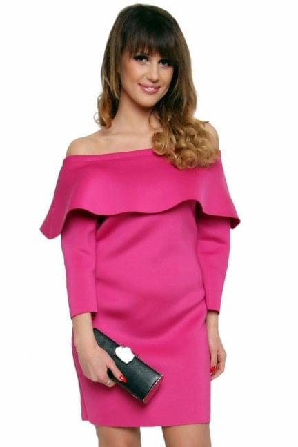 Sukienka hiszpanka ołówkowa CM410 różowa