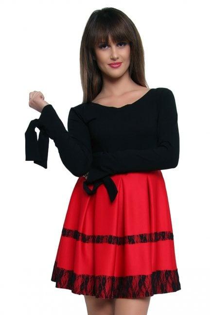 Sukienka z koronką VIKA CM369-1 czerwona