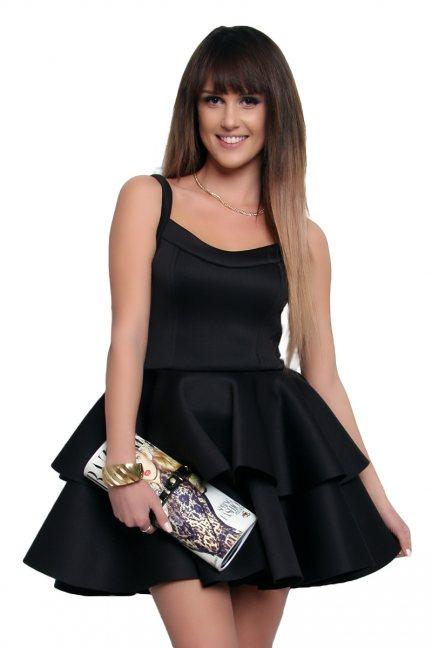 Sukienka na ramiączka pianka CM372 czarna