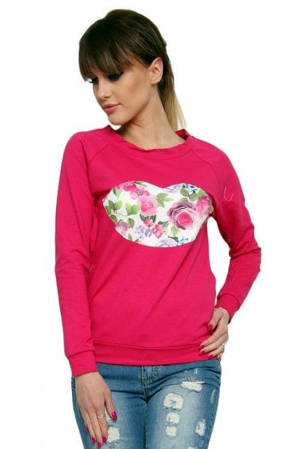 Bluza bawełniana usta CM087 różowa
