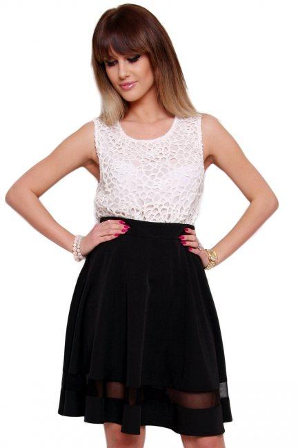 Spódnica elegancka midi CM124 czarna