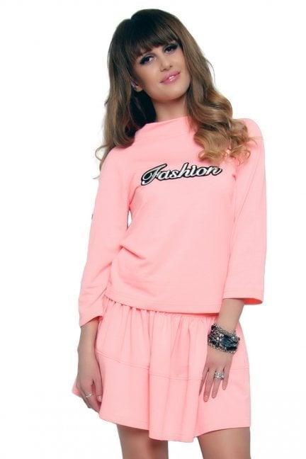 Komplet bawełniany Fashion CM427 łososiowy