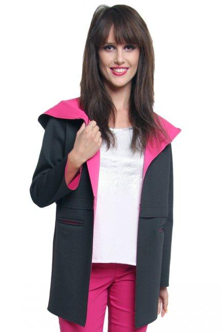 Płaszcz dwukolorowy