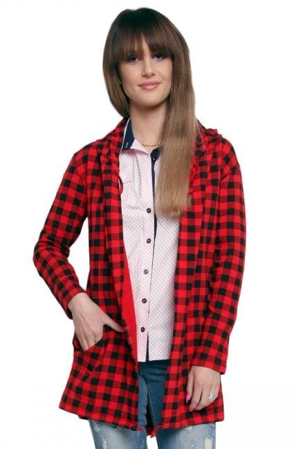 Bluza z kapturem kratka
