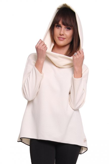 Bluza pikowana komin CM252C ecru