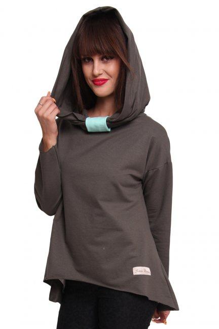 Bluza bawełniana z kapturem CM252B khaki