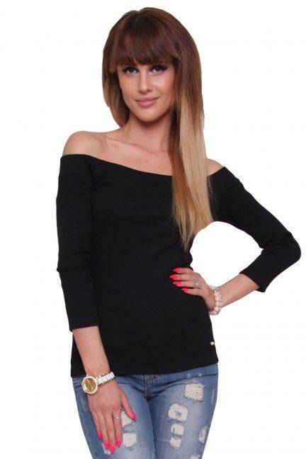 Bluzka modna bawełniana CM470 czarna