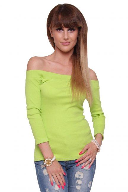Bluzka modna bawełniana CM470 zielona