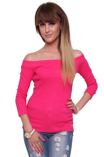 Bluzka modna bawełniana CM470 różowa