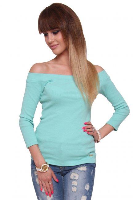 Bluzka modna bawełniana CM470 miętowa