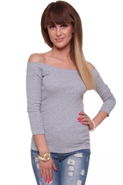 Bluzka modna bawełniana CM470 szara