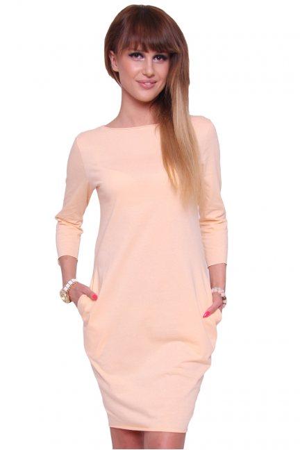 Sukienka bawełniana tuba CM175 morelowa