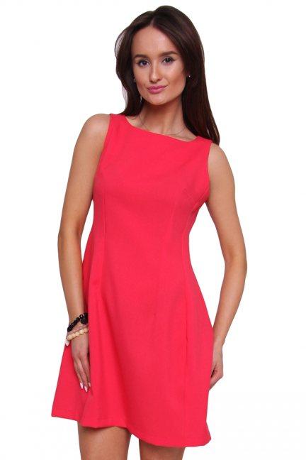 Sukienka rozkloszowana CM413 czerwona