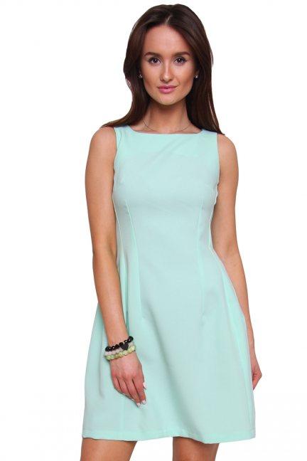 Sukienka rozkloszowana CM413 miętowa