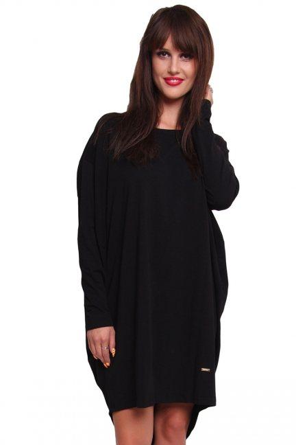Sukienka oversize bawełna CM191 czarna