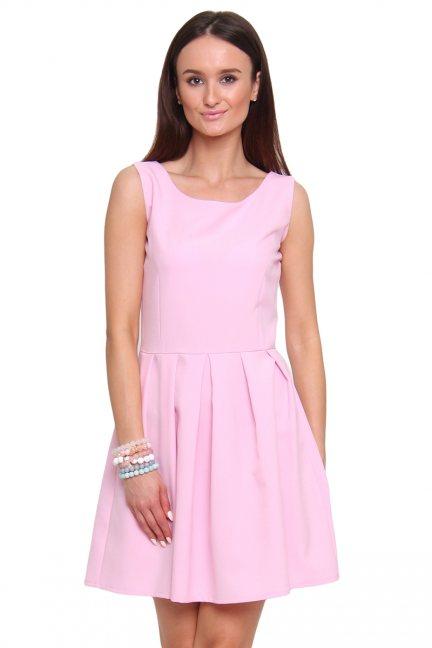 Sukienka rozkloszowana CM462 różowa