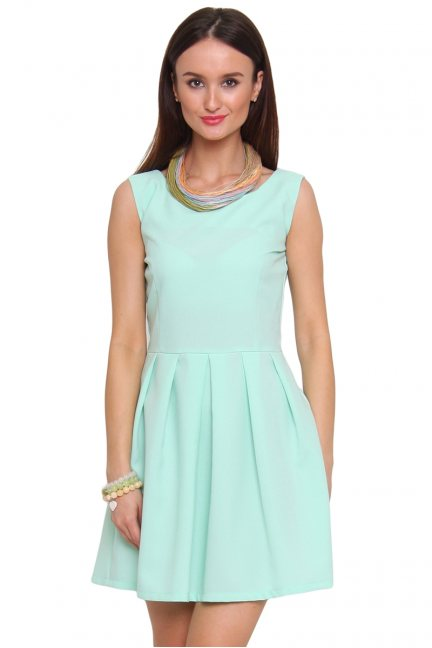 Sukienka rozkloszowana CM462 miętowa