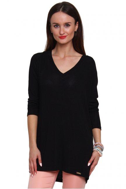 Sweterek z kokardką tiul CM467 czarny