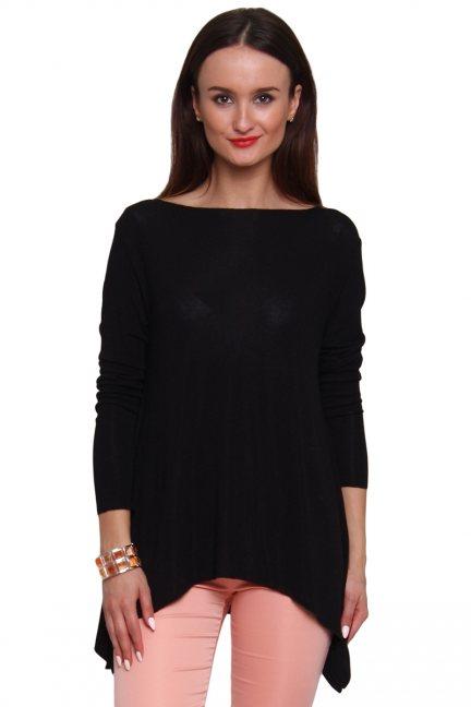 Sweter asymetryczny rogi CM489 czarny