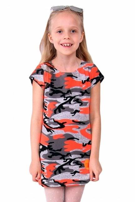 Sukienka bawełniana moro CM308 pomarańczowa