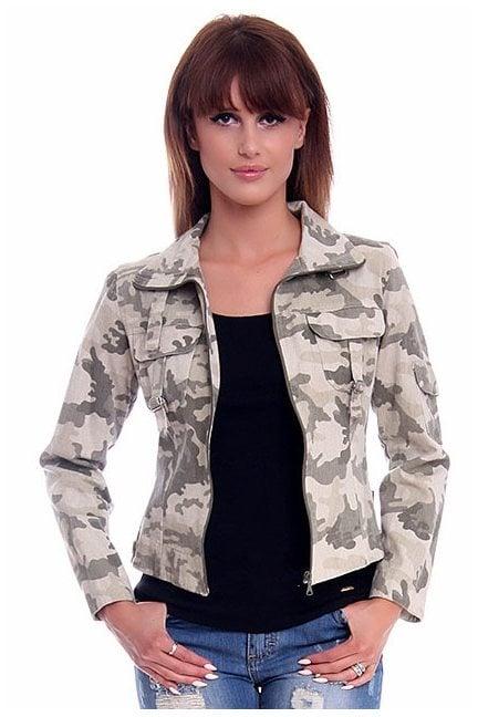 Bluza kurtka moro kołnierzyk CM01 zielona