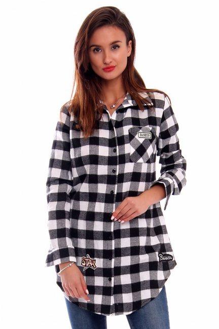 Koszula długa flanelowa CMK248 biała