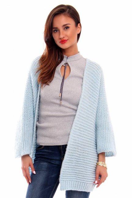 Kardigan sweter blezer CMK2029 błękitny