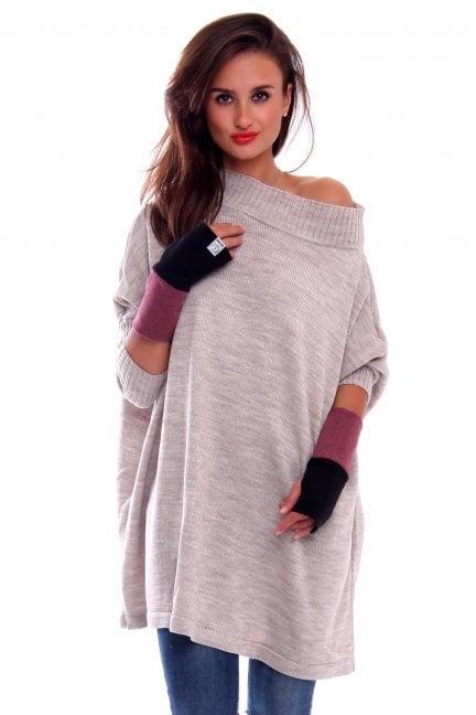 Rękawiczki bawełna Carpuski CMR03 czarno-fioletowe
