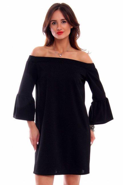 Sukienka hiszpanka boho CMK271 czarna