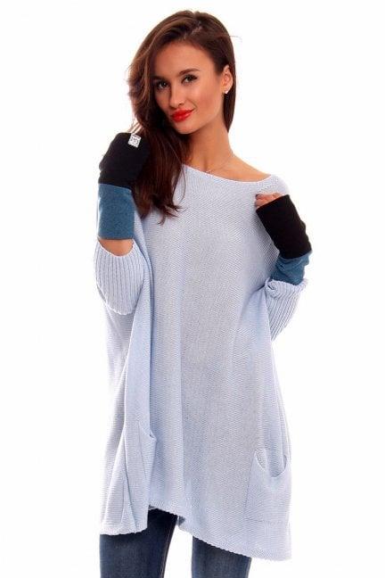 Rękawiczki bawełna Carpuski CMR03 turkusowe