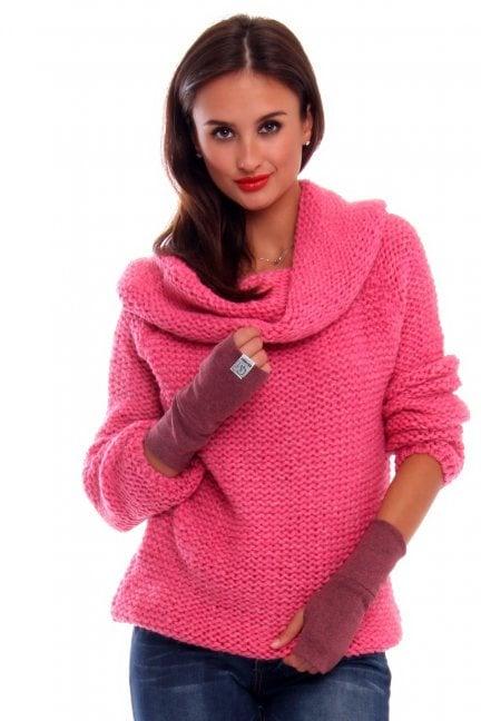 Rękawiczki bawełna Carpuski CMR02 fioletowe