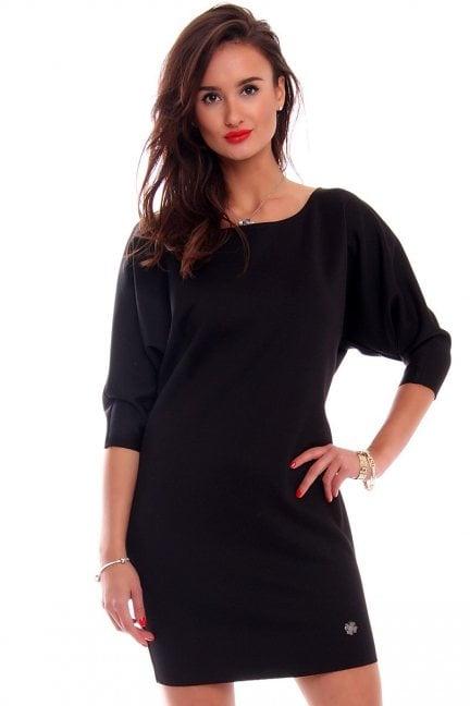 Sukienka mini nietoperz CM546 czarna